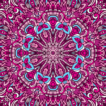 Abstract ethnic mandala pattern ornamental
