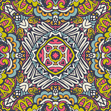 Festive colorful mandala star pattern
