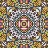 Festive colorful mandala star pattern