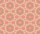 arabesque mosaic seamless pattern