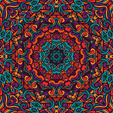 colorful floral mandala frame seamless pattern