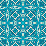 Abstract blue seamless tiles pattern