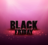 Black friday sale background with red lights.