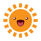 Sun Funny Character Icon on white