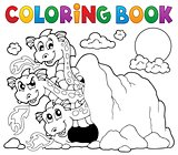 Coloring book dragon theme image 5