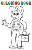 Coloring book happy plumber