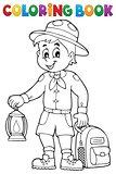 Coloring book scout boy theme 3