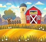 Farmland theme background 2