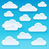 Stylized clouds theme image 1