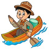 Water scout boy theme image 1