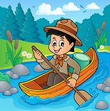 Water scout boy theme image 2