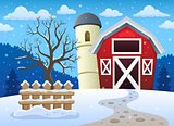 Winter farmland theme 1