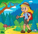 Woman hiker theme image 2