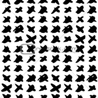 Cross Hand Drawn Seamless Pattern