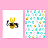 Easter Bunny Hipster Posters