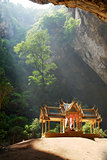Buddhist temple in picturesque cave