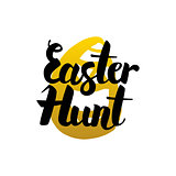 Easter Hunt Handwritten Lettering