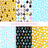 Easter Trendy Seamless Patterns