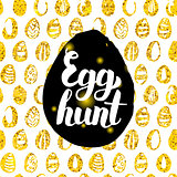 Egg Hunt Postcard Design