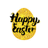 Gold Happy Easter Greeting