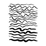 Hand Drawn Wave Brush Strokes