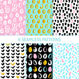 Happy Easter Funky Seamless Patterns