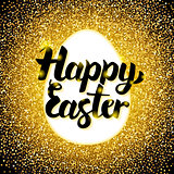 Happy Easter Gold Greeting