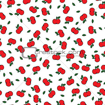 Apples seamles pattern