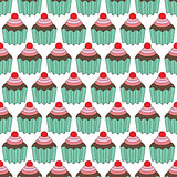 Cupcakes seamles pattern