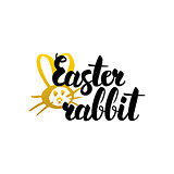 Easter Rabbit Handwritten Lettering
