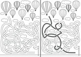 Hot air balloon maze