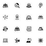 Flat Design Business Icons Set.