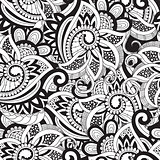 Vector Seamless Doodle Pattern