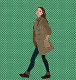 Glamorous lady in coat