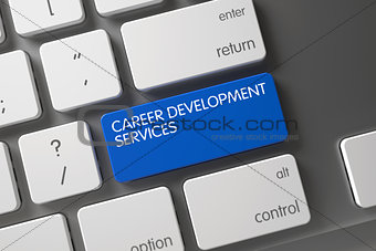 Career Development Services CloseUp of Keyboard. 3D.