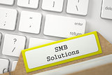 Folder Register with Inscription SMB Solutions.