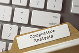 Sort Index Card with Inscription Competitor Analysis. 3D.