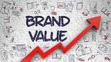 Brand Value Drawn on Brick Wall.
