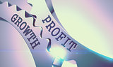 Profit Growth - Message on the Mechanism of Metallic Cogwheels. 3d.