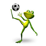 3d Illustration Frog with Ball