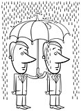 businessmen under umbrella