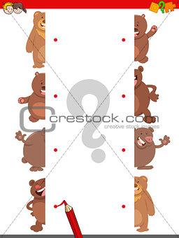 match the halves of bears