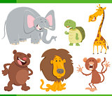 cute animals cartoon set illustration