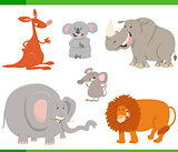 cartoon animals set illustration