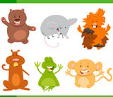 cartoon animal characters set