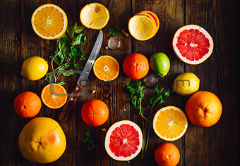 Sliced Citrus Fruits.