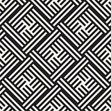 Seamless Vector Pattern. Abstract Geometric Background. Elegant Stripes Lattice