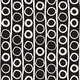 Vector Seamless Childlike Pattern. Monochrome Hand Drawn Geometric Shapes Texture