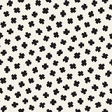 Vector Seamless Pattern. Abstract Background With Scattered Geometric Shapes.
