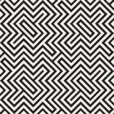 Ethnic Ornament Native Lines Stylish Print. Vector Seamless Black and White Pattern